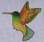 LB-81 Yellow Hummingbird 5 x 5 18 Mesh Danji Designs LAUREL BURCH