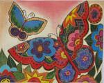 LB-85 Merci Butterflies 10 x 8 18Mesh Danji Designs LAUREL BURCH