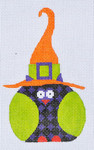 TL-01 Purple Checkered Witch Owl 3 x 5 18 Mesh Danji Designs TINA LEDBETTER