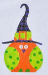 TL-03 Orange Witch Owl 3 x 5 18 Mesh Danji Designs TINA LEDBETTER