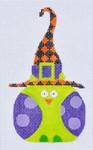 TL-04 Purple Polka Dot Witch Owl 3 x 5 18 Mesh Danji Designs TINA LEDBETTER