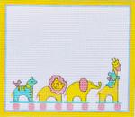 TL-06 Animals Birth Announcement 8 x 7 18 Mesh Danji Designs TINA LEDBETTER