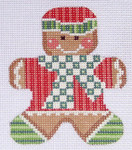 CH-44 Gingerbread Boy 1 With stitch guide 3 x 3 ¼ 18 Mesh Danji Designs CH Designs