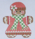 CH-45 Gingerbread Girl 1 With stitch guide 3 x 3 ¼ 18 Mesh Danji Designs CH Designs