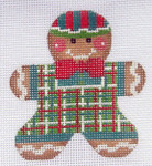 CH-46 Gingerbread Boy 2 With stitch guide 3 x 3 ¼ 18 Mesh Danji Designs CH Designs