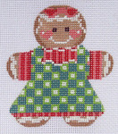 CH-47 Gingerbread Girl 2 With stitch guide 3 x 3 ¼ 18 Mesh Danji Designs CH Designs