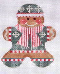 CH-48 Gingerbread Boy 3  3 x 3 ¼ 18 Mesh Danji Designs CH Designs With stitch guide