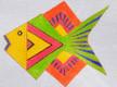 LB-77 Blue and Orange Fish 5 ½ x 4 ½ 18 Mesh Danji Designs LAUREL BURCH