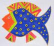 LB-75 Blue Fish 5 x 4 18 Mesh Danji Designs LAUREL BURCH