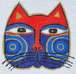 LB-111 Cat Face 2 ¾ x 2 ¾ 18 Mesh Danji Designs LAUREL BURCH