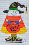 LD-51 Trick or Treat Candy Corn 2 ½ x 3 ½ 18 Mesh  LAINEY DANIELS