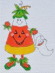 LD-49 Corny Costume Candy Corn 2 ½ x 3 ½ 18 Mesh  LAINEY DANIELS