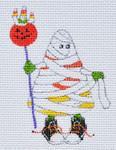 LD-48 Yummy Mummy Candy Corn 2 ½ x 3 ½ 18 Mesh LAINEY DANIELS