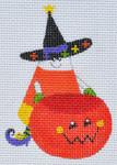 LD-47 Pumpkin Holder Candy Corn 2 ½ x 3 ½ 18 Mesh LAINEY DANIELS