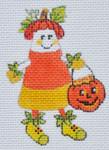 LD-45 Pumpkin Head Candy Corn 2 ½ x 3 ½ 18 Mesh LAINEY DANIELS