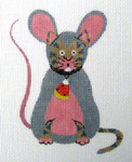 LD-06 Cat in Mouse Custom 3 ½ x 4 ½ 18 Mesh LAINEY DANIELS