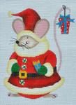 LD-22 Santa Mouse 3 ½ x 4 ½ 18 Mesh LAINEY DANIELS
