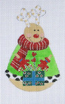 LD-12 Rounded Reindeer 2 ¾ x 4 ¼ 18 Mesh LAINEY DANIELS