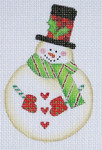 LD-14 Rounded Snowman 3 x 4 ¼ 18 Mesh LAINEY DANIELS