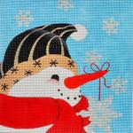 LD-54 Believe Snowman 8 x 8 18 Mesh LAINEY DANIELS
