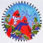 "LD-41 Cardinal Ornament 4"" Round 18 Mesh LAINEY DANIELS"