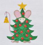 LD-26 Christmas Tree Scarf 4 x 4¾ 18 Mesh LAINEY DANIELS
