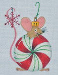LD-27 Peppermint Mouse 3 ½ x 5 18 Mesh LAINEY DANIELS