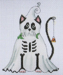 LD-16 Ghost Black Cat  3 ½ x 4 ½ 18 Mesh LAINEY DANIELS