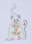 LD-30 Trick or Treat Cat 3 ¼ x 5 18 Mesh  LAINEY DANIELS