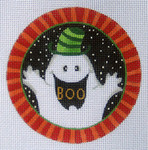 "LD-40 Boo Ornament 4"" Round 18 Mesh  LAINEY DANIELS"