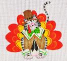 LD-38 Thanksgiving Cat 4 x 4 ½ 18 Mesh LAINEY DANIELS