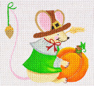 LD-37 Thanksgiving Mouse 4 ½ x 4 18 Mesh LAINEY DANIELS