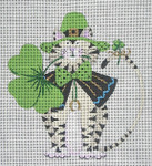 LD-36 St. Patrick's Day Cat 4 ½ x 5 18 Mesh LAINEY DANIELS