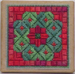 Christmas Wreath Ort Box – Needlepoint with box Handblessings