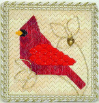 Bargello Cardinal – Needlepoint with 1 charm Handblessings Pattern Only