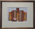 Norwich Pumpkin – Needlepoint with 1 charm Handblessings  Pattern Only