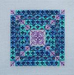 Rhapsody In Blue Needlepoint with BLACKWORK Handblessings Pattern Only