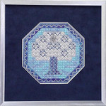 Winter Wonder – Needlepoint with 1 snowflake charm Handblessings