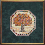 Autumn Jewel – Needlepoint with 1 charm Handblessings  Pattern Only
