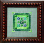 Thinking Green – Needlepoint with 1 charm Handblessings
