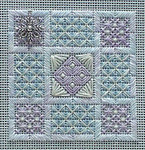 Snowflake Garden – Needlepoint with 1 snowflake charm Handblessings  Pattern Only