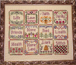 Blessings Sampler Quilt with 8 charms included Handblessings