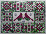 Twin Cardinal Quilt with 3 charms Handblessings