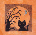 Cat In Moon with 1 witch charm Handblessings