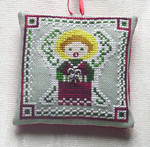 Candy Cane Angel with 1 charm included Handblessings