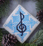 Christmas Music ornament Handblessings