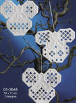 013648 Permin Kit Christmas Angels Hardanger (3pcs)