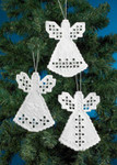 014615 Permin Kit Angel Hardanger Ornaments (3 designs)