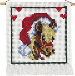137222 Permin Horse w/Santa hat