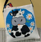 929183 Permin Cow w/flowers Bag